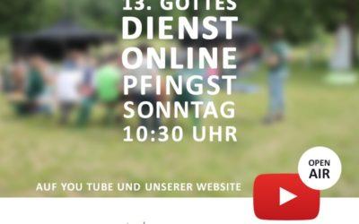 Online Lagergottesdienst aus dem Pfarrgarten
